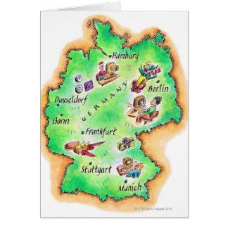 Mapa de Alemania Tarjeta De Felicitación