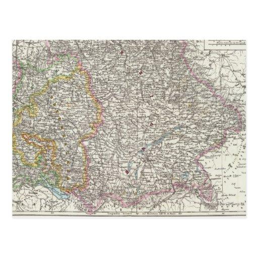 Mapa de Alemania Tarjetas Postales