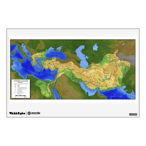 Mapa de Alexander el gran imperio 334-328 A.C.