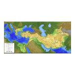 Mapa de Alexander el gran imperio 334-328 A.C. Impresion De Lienzo