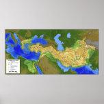 Mapa de Alexander el gran imperio 334-328 A.C. Impresiones
