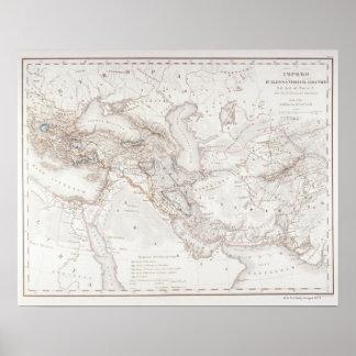 Mapa de Alexander el imperio de los Greats Póster