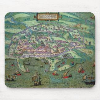 Mapa de Alexandría, de 'Civitates Orbis Terrarum Tapete De Raton