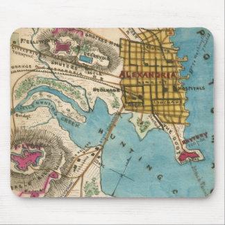 Mapa de Alexandría VA y ciudades vecinas Tapete De Raton