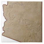 Mapa de alivio de Arizona Azulejos