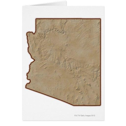 Mapa de alivio de Arizona Felicitaciones