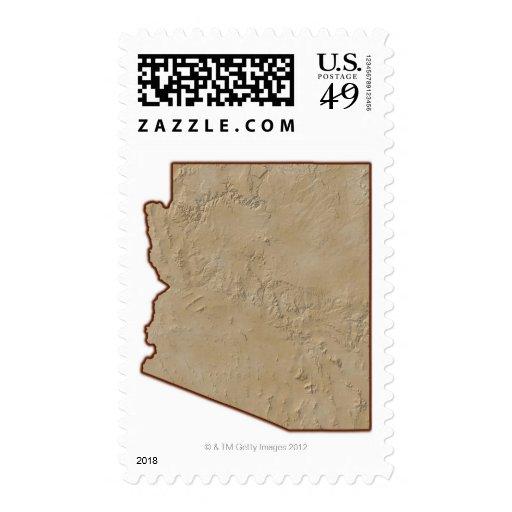 Mapa de alivio de Arizona Sellos