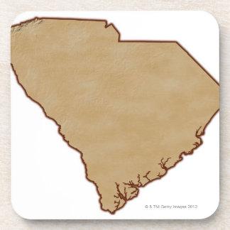 Mapa de alivio de Carolina del Sur Posavaso