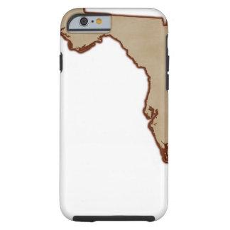 Mapa de alivio de la Florida Funda Para iPhone 6 Tough