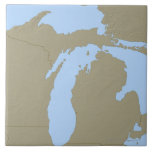 Mapa de alivio de Michigan Teja