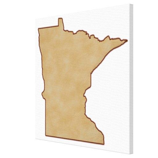 Mapa de alivio de Minnesota Impresión De Lienzo