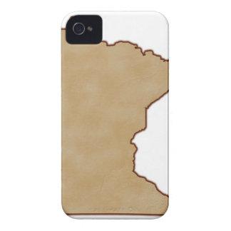 Mapa de alivio de Minnesota iPhone 4 Case-Mate Cobertura