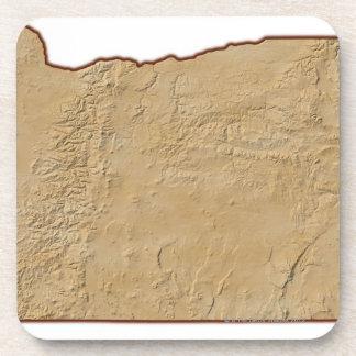 Mapa de alivio de Oregon 2 Posavaso
