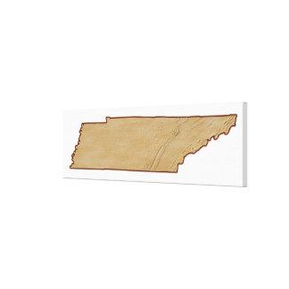 Mapa de alivio de Tennessee Impresion De Lienzo