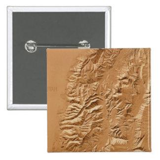 Mapa de alivio de Utah Pin Cuadrada 5 Cm