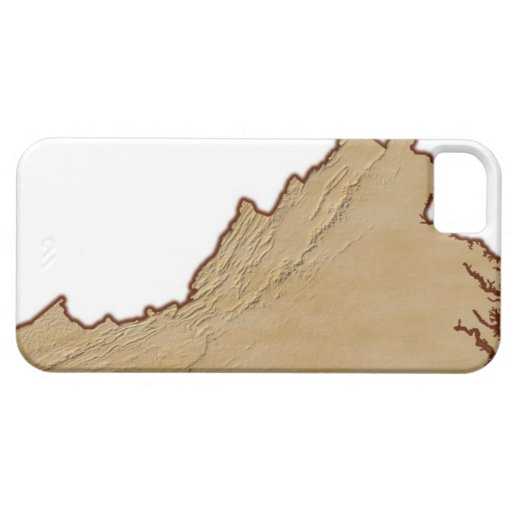 Mapa de alivio de Virginia iPhone 5 Funda
