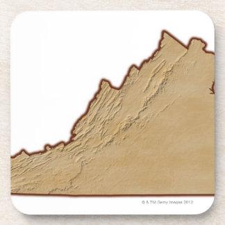 Mapa de alivio de Virginia Posavaso