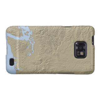 Mapa de alivio de Washington Samsung Galaxy S2 Carcasa