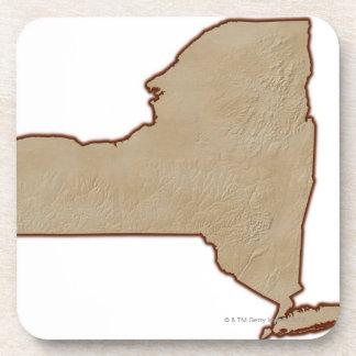 Mapa de alivio del Estado de Nuevo York Posavasos
