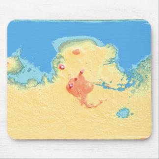 Mapa de alivio del Mola de Terraformed Marte Alfombrilla De Ratón