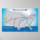 Mapa de alta velocidad v1.01 del sistema ferroviar impresiones