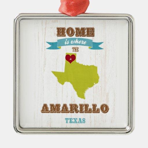 Mapa de Amarillo, Tejas - casero es donde está el  Ornamento De Reyes Magos
