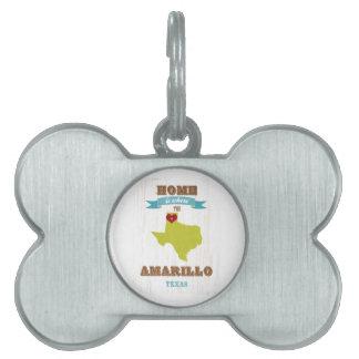 Mapa de Amarillo, Tejas - casero es donde está el  Placas Mascota