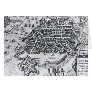Mapa de Amberes, 1598 Tarjeta De Felicitación