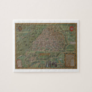 "Mapa de Amberes, de ""Civitates Orbis Terrarum"" cer Rompecabeza"
