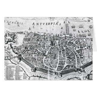 Mapa de Amberes Tarjeta De Felicitación