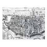 Mapa de Amberes Tarjetas Postales