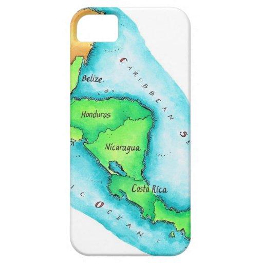 Mapa de America Central iPhone 5 Case-Mate Protector
