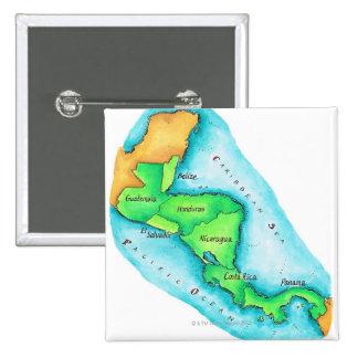 Mapa de America Central Pin Cuadrado