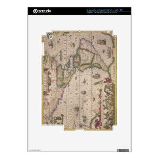 """Mapa de América, del Mercator """"atlas"""", pub. por iPad 3 Pegatinas Skins"""