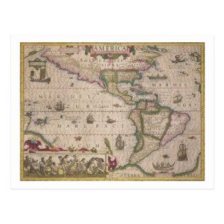 "Mapa de América, del Mercator ""atlas"", pub. por Tarjetas Postales"