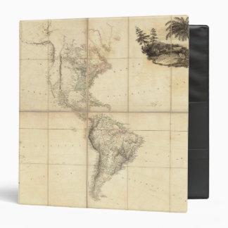 """Mapa de América por un Arrowsmith Carpeta 1 1/2"""""""
