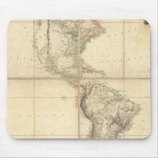 Mapa de América por un Arrowsmith Mouse Pads