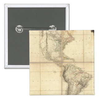 Mapa de América por un Arrowsmith Pin Cuadrado