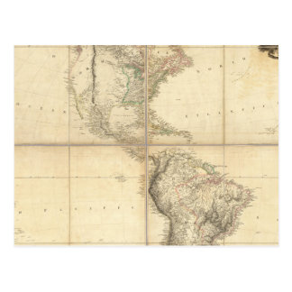 Mapa de América por un Arrowsmith Postales