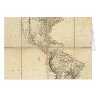 Mapa de América por un Arrowsmith Tarjeta De Felicitación