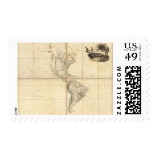 Mapa de América por un Arrowsmith Timbre Postal