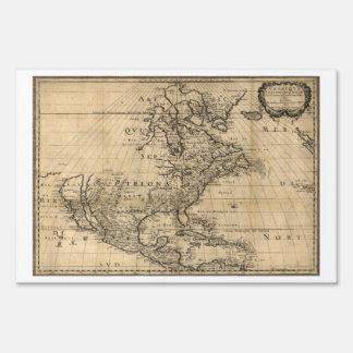Mapa de Amérique Septentrionale Norteamérica Señales