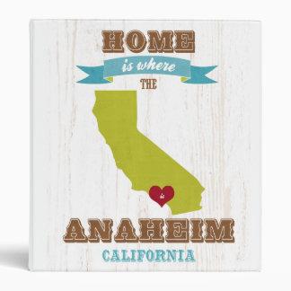 Mapa de Anaheim California - casero es donde