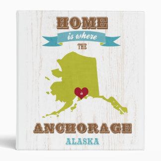 Mapa de Anchorage Alaska - casero es donde está e