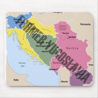 MAPA DE ANTIGUA YUGOSLAVIA MOUSEPADS