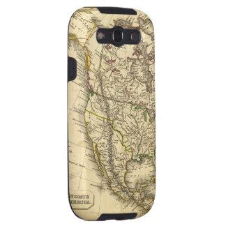 Mapa de Antquie de Norteamérica Galaxy S3 Carcasas