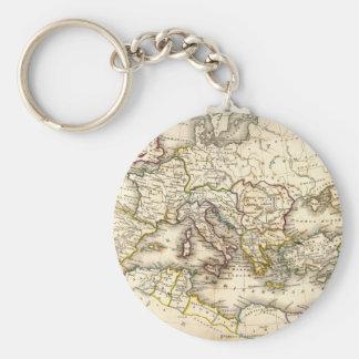 Mapa de Antquie de romano antiguo Llavero Redondo Tipo Pin