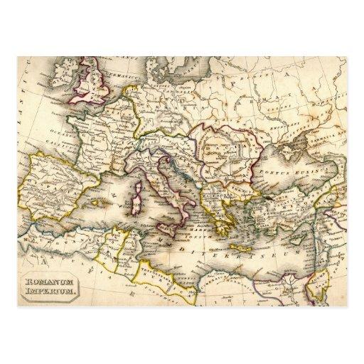 Mapa de Antquie de romano antiguo Tarjetas Postales