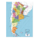 Mapa de Argentina Postales