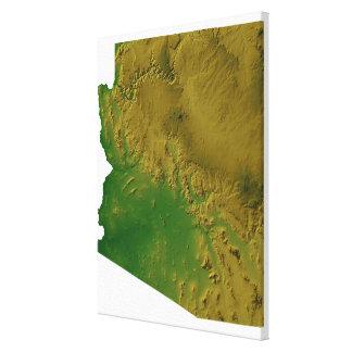 Mapa de Arizona 2 Impresiones De Lienzo